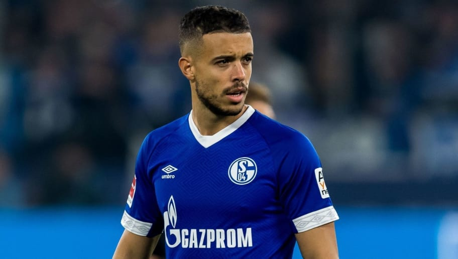 Franco Di Santo of FC Schalke 04  DFL REGULATIONS PROHIBIT ANY USE OF PHOTOGRAPHS AS IMAGE SEQUENCES AND/OR QUASI-VIDEO. during the Bundesliga match between FC Schalke 04 and SV Werder Bremen at the Veltins Arena on October 20, 2018 in Gelsenkirchen, Germany(Photo by VI Images via Getty Images)