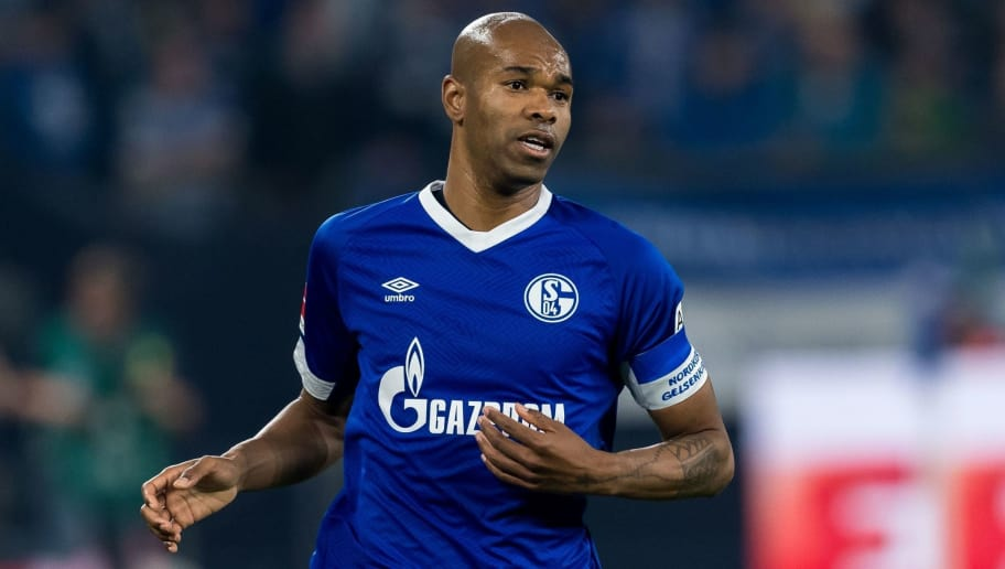 Ronaldo Aparecido Rodrigues ( Naldo ) of FC Schalke 04 DFL REGULATIONS PROHIBIT ANY USE OF PHOTOGRAPHS AS IMAGE SEQUENCES AND/OR QUASI-VIDEO. during the Bundesliga match between FC Schalke 04 and SV Werder Bremen at the Veltins Arena on October 20, 2018 in Gelsenkirchen, Germany(Photo by VI Images via Getty Images)
