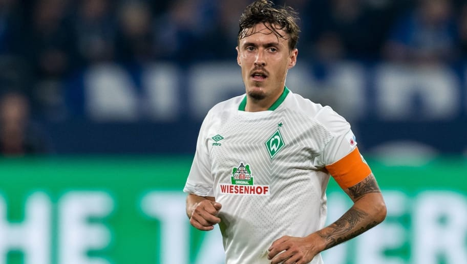 Max Kruse of Werder Bremen DFL REGULATIONS PROHIBIT ANY USE OF PHOTOGRAPHS AS IMAGE SEQUENCES AND/OR QUASI-VIDEO. during the Bundesliga match between FC Schalke 04 and SV Werder Bremen at the Veltins Arena on October 20, 2018 in Gelsenkirchen, Germany(Photo by VI Images via Getty Images)