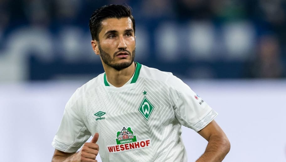 Nuri Sahin of Werder Bremen DFL REGULATIONS PROHIBIT ANY USE OF PHOTOGRAPHS AS IMAGE SEQUENCES AND/OR QUASI-VIDEO. during the Bundesliga match between FC Schalke 04 and SV Werder Bremen at the Veltins Arena on October 20, 2018 in Gelsenkirchen, Germany(Photo by VI Images via Getty Images)