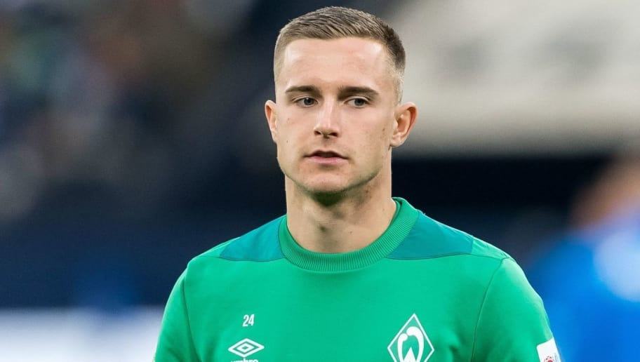 Johannes Eggestein of Werder Bremen DFL REGULATIONS PROHIBIT ANY USE OF PHOTOGRAPHS AS IMAGE SEQUENCES AND/OR QUASI-VIDEO. during the Bundesliga match between FC Schalke 04 and SV Werder Bremen at the Veltins Arena on October 20, 2018 in Gelsenkirchen, Germany(Photo by VI Images via Getty Images)