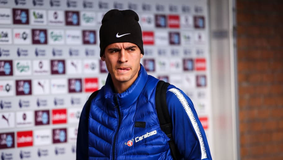 BURNLEY, ENGLAND - OCTOBER 28: Alvaro Morata of Chelsea arrives prior to the Premier League match between Burnley FC and Chelsea FC at Turf Moor on October 28, 2018 in Burnley, United Kingdom. (Photo by Robbie Jay Barratt - AMA/Getty Images)