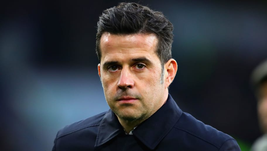 BURNLEY, ENGLAND - DECEMBER 26:  Manager of Everton Marco Silva looks on from the sidelines during the Premier League match between Burnley FC and Everton FC at Turf Moor on December 26, 2018 in Burnley, United Kingdom.  (Photo by Chris Brunskill/Fantasista/Getty Images)
