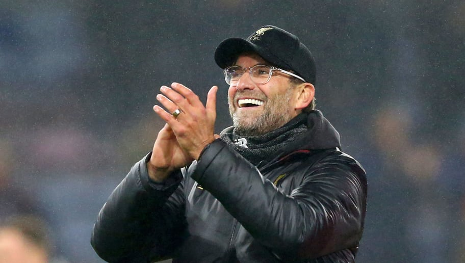 BURNLEY, ENGLAND - DECEMBER 05:  Jurgen Klopp, Manager of Liverpool shows appreciation to the fans following his sides victory in during the Premier League match between Burnley FC and Liverpool FC at Turf Moor on December 5, 2018 in Burnley, United Kingdom.  (Photo by Alex Livesey/Getty Images)