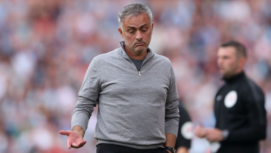 BURNLEY, ENGLAND - SEPTEMBER 02: Manchester United Manager \ Head Coach Jose Mourinho during the Premier League match between Burnley FC and Manchester United at Turf Moor on September 2, 2018 in Burnley, United Kingdom. (Photo by James Williamson - AMA/Getty Images)