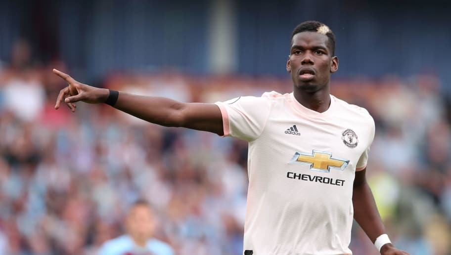 BURNLEY, ENGLAND - SEPTEMBER 02: Paul Pogba of Manchester United during the Premier League match between Burnley FC and Manchester United at Turf Moor on September 2, 2018 in Burnley, United Kingdom. (Photo by James Williamson - AMA/Getty Images)