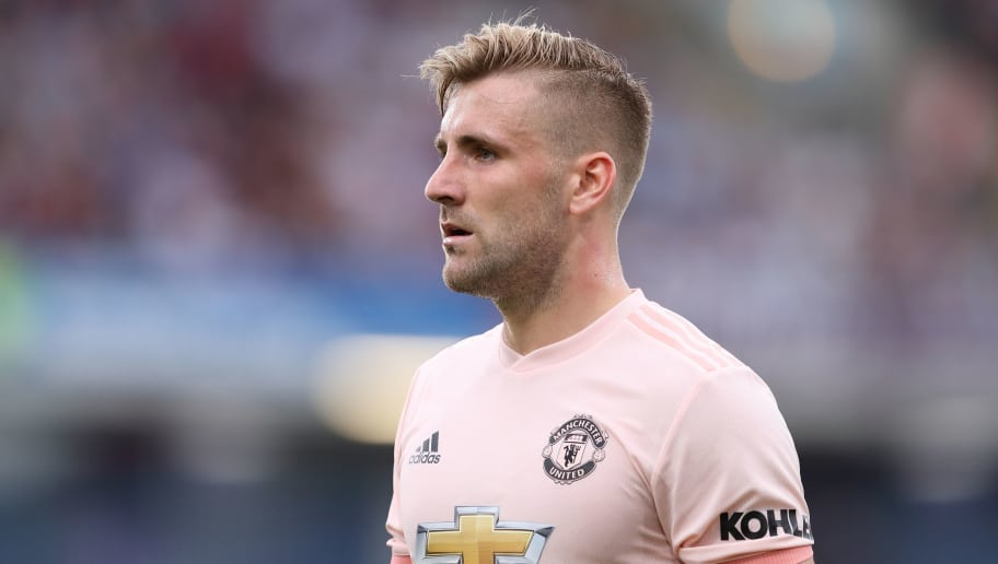 BURNLEY, ENGLAND - SEPTEMBER 02: Luke Shaw of Manchester United during the Premier League match between Burnley FC and Manchester United at Turf Moor on September 2, 2018 in Burnley, United Kingdom. (Photo by James Williamson - AMA/Getty Images)