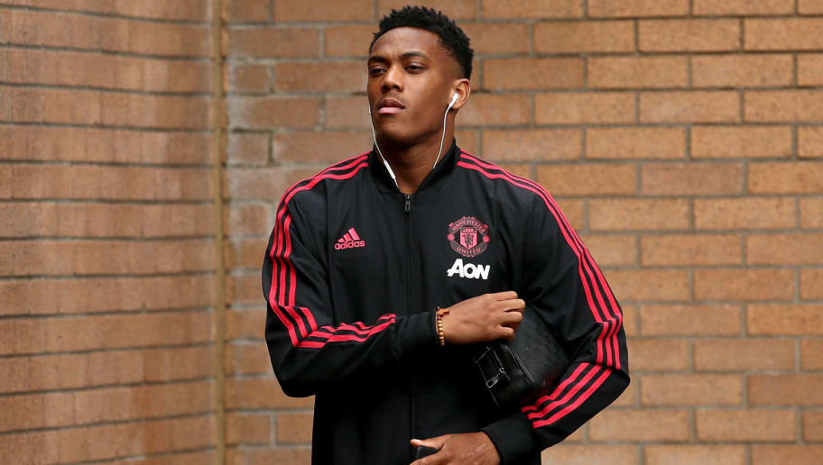 BURNLEY, ENGLAND - SEPTEMBER 02:  Anthony Martial of Manchester United arrives prior to the Premier League match between Burnley FC and Manchester United at Turf Moor on September 2, 2018 in Burnley, United Kingdom.  (Photo by Jan Kruger/Getty Images)