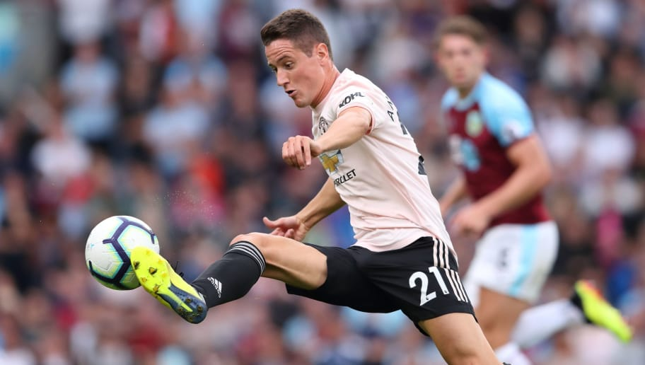 BURNLEY, ENGLAND - SEPTEMBER 02: Ander Herrera of Manchester United during the Premier League match between Burnley FC and Manchester United at Turf Moor on September 2, 2018 in Burnley, United Kingdom. (Photo by James Williamson - AMA/Getty Images)