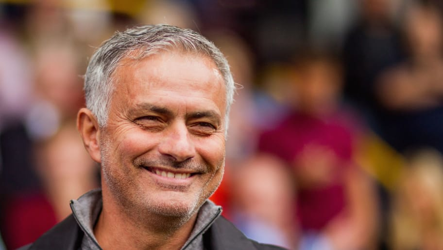 BURNLEY, ENGLAND - SEPTEMBER 02:  Jose Mourinho the manager of Manchester United looks on during the Premier League match between Burnley FC and Manchester United at Turf Moor on September 2, 2018 in Burnley, United Kingdom.  (Photo by Chloe Knott - Danehouse/Getty Images)