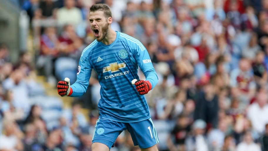 BURNLEY, ENGLAND - SEPTEMBER 02:  David de Gea of Manchester United reacts during the Premier League match between Burnley FC and Manchester United at Turf Moor on September 2, 2018 in Burnley, United Kingdom.  (Photo by Chloe Knott - Danehouse/Getty Images)