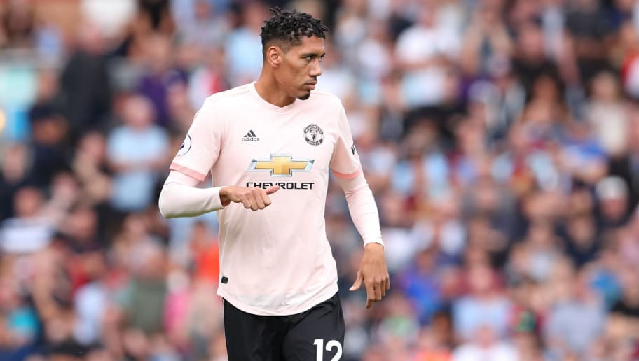 BURNLEY, ENGLAND - SEPTEMBER 02: Chris Smalling of Manchester United during the Premier League match between Burnley FC and Manchester United at Turf Moor on September 2, 2018 in Burnley, United Kingdom. (Photo by James Williamson - AMA/Getty Images)