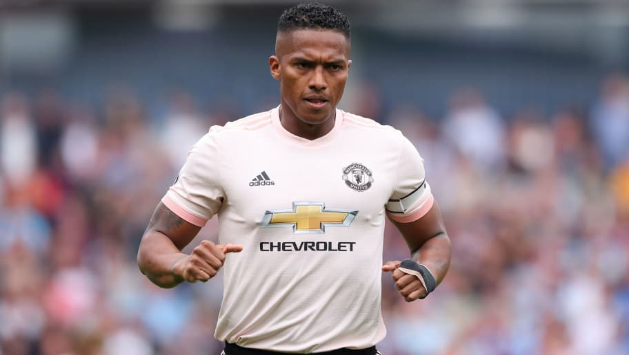 BURNLEY, ENGLAND - SEPTEMBER 02: Antonio Valencia of Manchester United during the Premier League match between Burnley FC and Manchester United at Turf Moor on September 2, 2018 in Burnley, United Kingdom. (Photo by James Williamson - AMA/Getty Images)