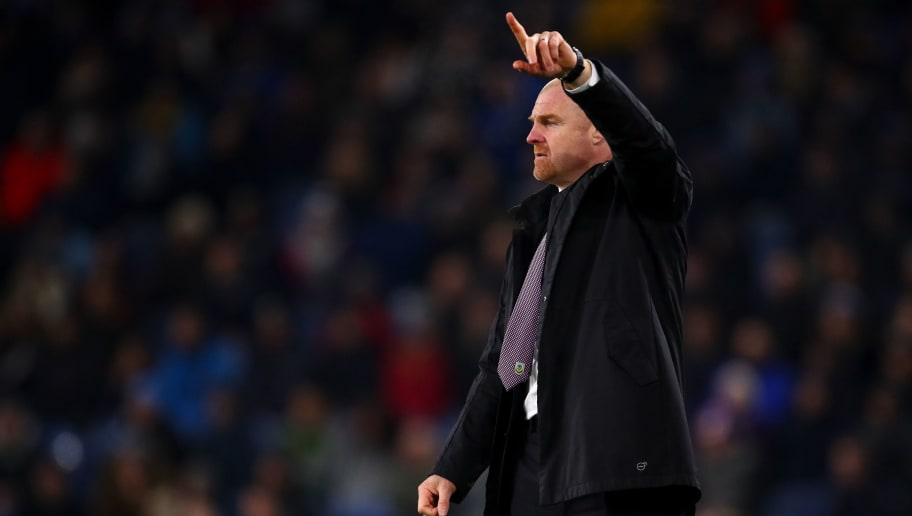 BURNLEY, ENGLAND - NOVEMBER 26: Sean Dyche the head coach / manager of Burnley gestures  during the Premier League match between Burnley FC and Newcastle United at Turf Moor on November 26, 2018 in Burnley, United Kingdom. (Photo by Robbie Jay Barratt - AMA/Getty Images)