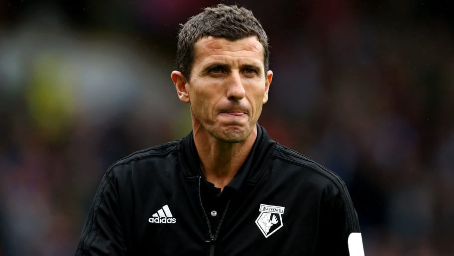 BURNLEY, ENGLAND - AUGUST 19:  Javi Gracia, Manager of Watford looks on after the Premier League match between Burnley FC and Watford FC at Turf Moor on August 19, 2018 in Burnley, United Kingdom.  (Photo by Jan Kruger/Getty Images)