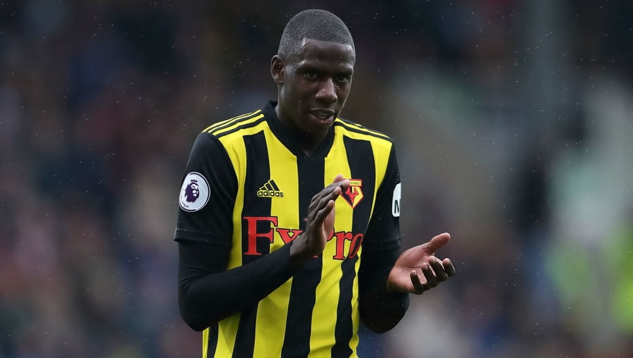 BURNLEY, ENGLAND - AUGUST 19: Abdoulaya Doucoure of Watford during the Premier League match between Burnley FC and Watford FC at Turf Moor on August 19, 2018 in Burnley, United Kingdom. (Photo by James Williamson - AMA/Getty Images)