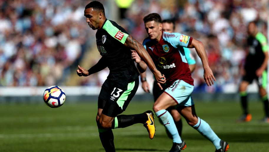 BURNLEY, ENGLAND - MAY 13:  Callum Wilson of AFC Bournemouth in action during the Premier League match between Burnley and AFC Bournemouth at Turf Moor on May 13, 2018 in Burnley, England.  (Photo by Jan Kruger/Getty Images)