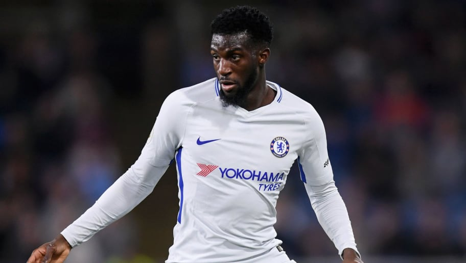 BURNLEY, ENGLAND - APRIL 19: Tiemoue Bakayoko of Chelsea runs with the ball during the Premier League match between Burnley and Chelsea at Turf Moor on April 19, 2018 in Burnley, England.  (Photo by Laurence Griffiths/Getty Images)