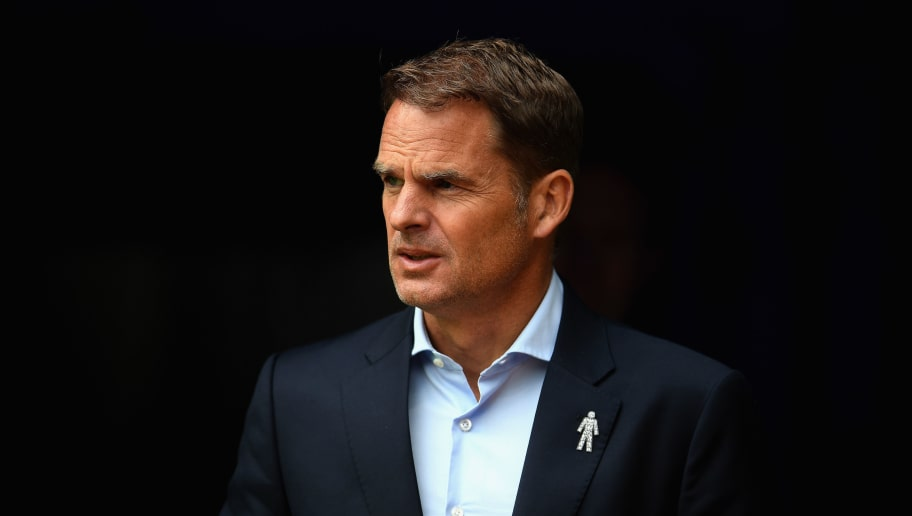 BURNLEY, ENGLAND - SEPTEMBER 10:  Frank de Boer, Manager of Crystal Palace looks on during the Premier League match between Burnley and Crystal Palace at Turf Moor on September 10, 2017 in Burnley, England.  (Photo by Laurence Griffiths/Getty Images)