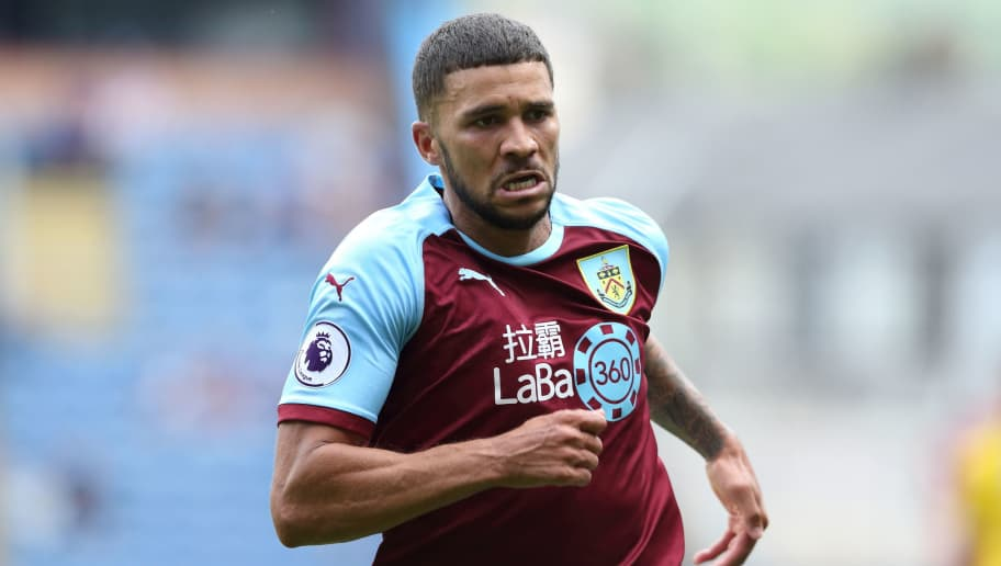 BURNLEY, ENGLAND - AUGUST 05: Nahki Wells of Burnley during the Pre-Season Friendly between Burnley and Espanyol at Turf Moor on August 5, 2018 in Burnley, England. (Photo by James Williamson - AMA/Getty Images)
