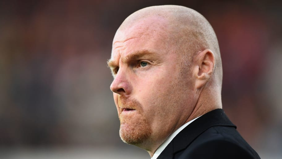 BURNLEY, ENGLAND - AUGUST 30:  Burnley manager Sean Dyche looks on before the UEFA Europa League qualifing second leg play off match between Burnley and Olympiakos at Turf Moor on August 30, 2018 in Burnley, England.  (Photo by Clive Mason/Getty Images)