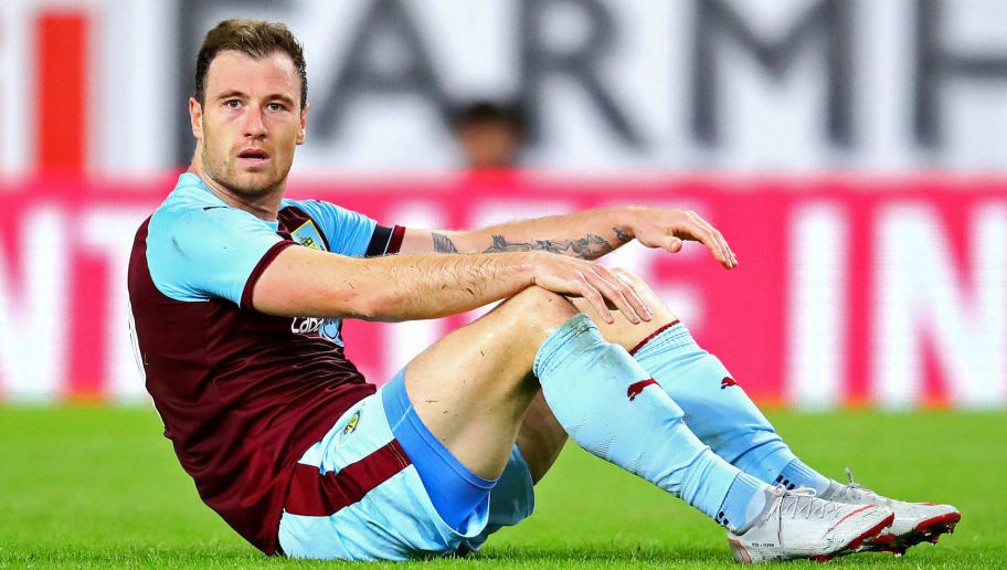 BURNLEY, ENGLAND - AUGUST 30: Ashley Barnes of Burnley reacts during the UEFA Europa League Qualifying Play-Off Second Leg match between Burnley and Olympiakos at Turf Moor on August 30, 2018 in Burnley, England. (Photo by Chris Brunskill/Fantasista/Getty Images)
