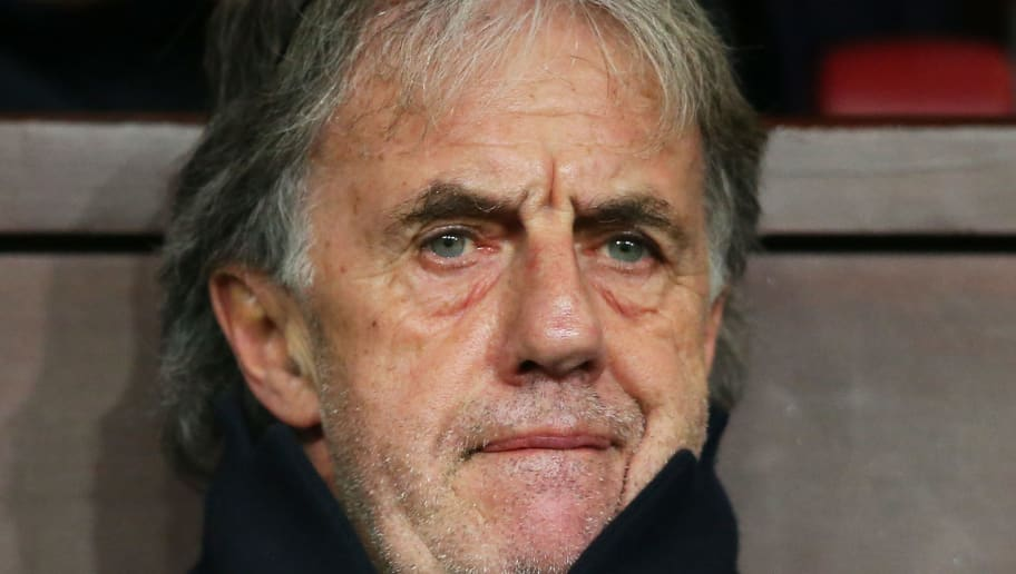 BURNLEY, ENGLAND - JANUARY 17: Mark Lawrenson looks on from the stands during the Emirates FA Cup third round replay between Burnley and Sunderland at Turf Moor on January 17, 2017 in Burnley, England.  (Photo by Alex Livesey/Getty Images)