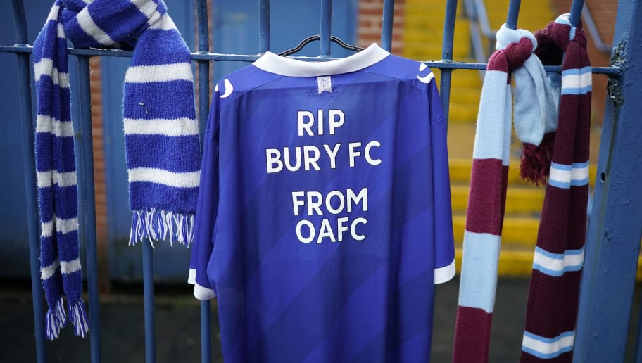 Bury Football Club Expelled From The English Football League After 125 Years