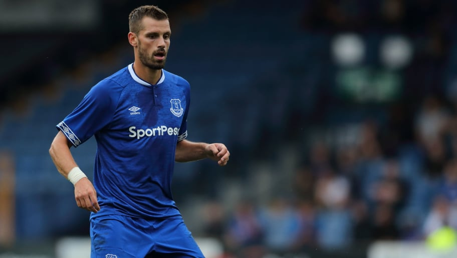 BURY, ENGLAND - JULY 18: Morgan Schneiderlin of Everton during the Pre-Season Friendly match between Bury and Everton at Gigg Lane on July 18, 2018 in Bury, England. (Photo by James Williamson - AMA/Getty Images)
