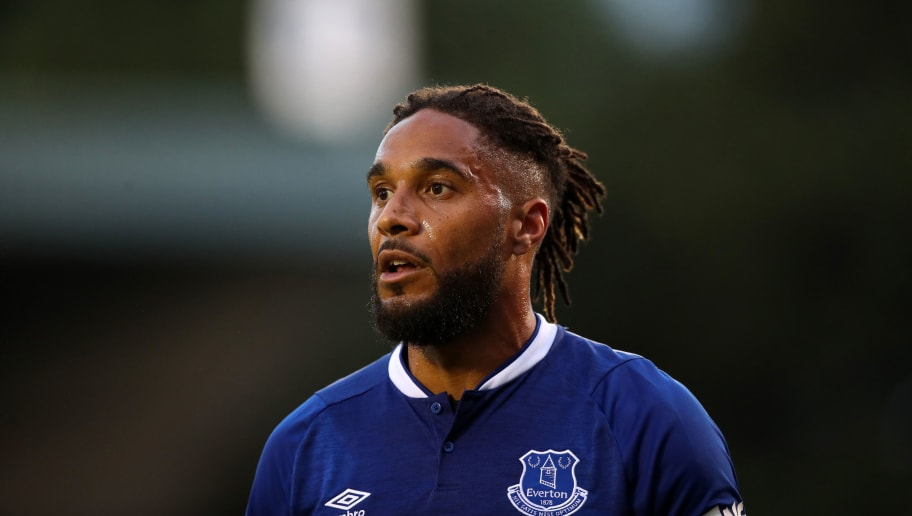 BURY, ENGLAND - JULY 18: Ashley Williams of Everton during the Pre-Season Friendly at Gigg Lane on July 18, 2018 in Bury, England. (Photo by Lynne Cameron/Getty Images)