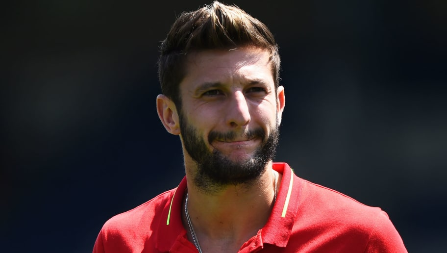 BURY, ENGLAND - JULY 14: Adam Lallana of Liverpool looks on before a pre-season friendly match between Bury and Liverpool at Gigg Lane on July 14, 2018 in Bury, England. (Photo by Nathan Stirk/Getty Images)