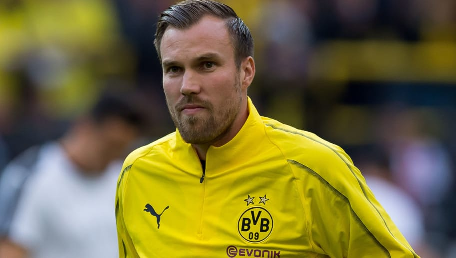DORTMUND, GERMANY - SEPTEMBER 07: Kevin Grosskreutz of Borussia Dortmund Allstars looks on during the Roman Weidenfeller Farewell Match between BVB Allstars and Roman and Friends at Signal Iduna Park on September 7, 2018 in Dortmund, Germany. (Photo by TF-Images/Getty Images)