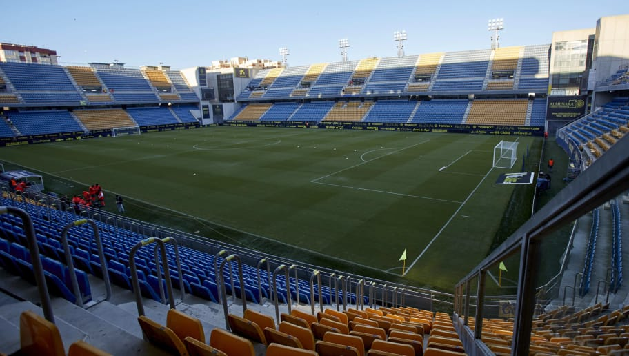 CADIZ, SPAIN - NOVEMBER 01: General view inside the stadium prior to the Spanish Copa del Rey match between Cadiz and Espanyol at Estadio Ramon de Carranza on November 1, 2018 in Cadiz, Spain.  (Photo by Quality Sport Images/Getty Images)