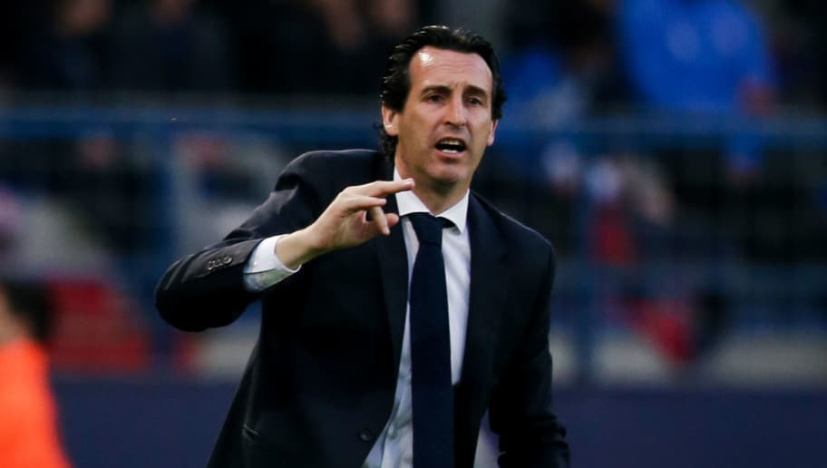 CAEN, FRANCE - MAY 19: Coach Unai Emery of Paris Saint Germain during the French League 1  match between Caen v Paris Saint Germain at the Stade Michel d Ornano on May 19, 2018 in Caen France (Photo by Erwin Spek/Soccrates/Getty Images)