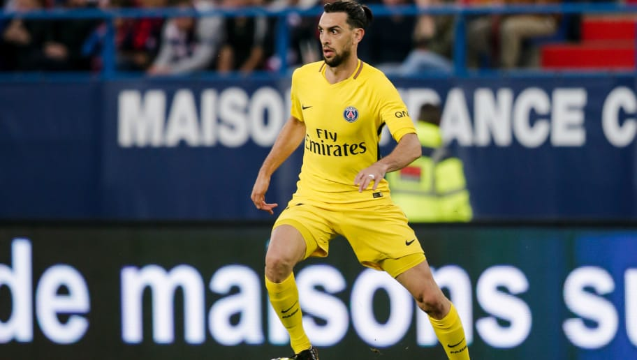 CAEN, FRANCE - MAY 19: Javier Pastore of Paris Saint Germain during the French League 1  match between Caen v Paris Saint Germain at the Stade Michel d Ornano on May 19, 2018 in Caen France (Photo by Erwin Spek/Soccrates/Getty Images)