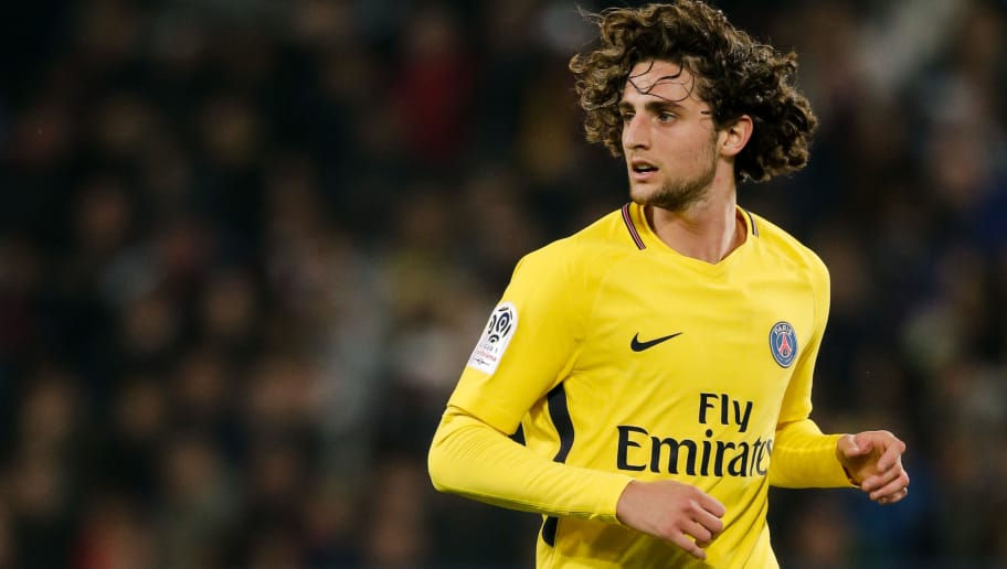 CAEN, FRANCE - MAY 19: Adrien Rabiot of Paris Saint Germain during the French League 1  match between Caen v Paris Saint Germain at the Stade Michel d Ornano on May 19, 2018 in Caen France (Photo by Erwin Spek/Soccrates/Getty Images)
