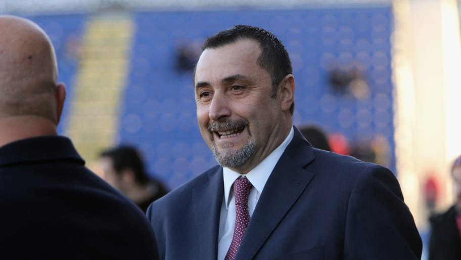 CAGLIARI, ITALY - JANUARY 21:  Massimiliano Mirabelli, chief sport officer of Milan  during the serie A match between Cagliari Calcio and AC Milan at Stadio Sant'Elia on January 21, 2018 in Cagliari, Italy.  (Photo by Enrico Locci/Getty Images)