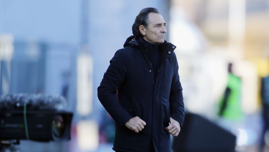 CAGLIARI, ITALY - DECEMBER 26: Cesare Prandelli coach of Genoa looks on    during the Serie A match between Cagliari and Genoa CFC at Sardegna Arena on December 26, 2018 in Cagliari, Italy.  (Photo by Enrico Locci/Getty Images)