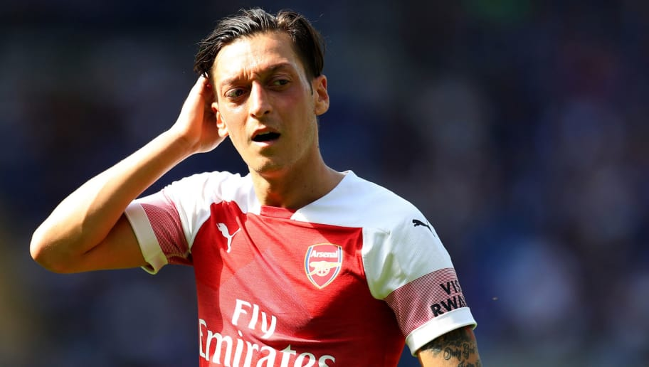 CARDIFF, WALES - SEPTEMBER 02: Mesut Ozil of Arsenal  during the Premier League match between Cardiff City and Arsenal FC at Cardiff City Stadium on September 2, 2018 in Cardiff, United Kingdom. (Photo by Catherine Ivill/Getty Images)