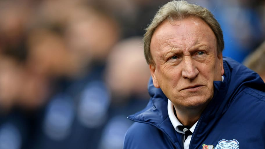 CARDIFF, WALES - NOVEMBER 10:  Neil Warnock, Manager of Cardiff City looks on prior to the Premier League match between Cardiff City and Brighton & Hove Albion at the Cardiff City Stadium on November 10, 2018 in Cardiff, United Kingdom.  (Photo by Dan Mullan/Getty Images)