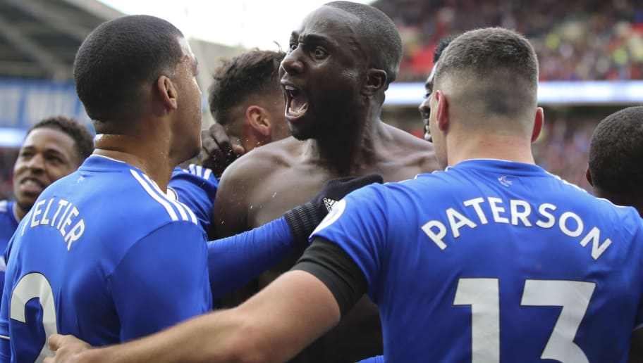 CARDIFF, WALES - NOVEMBER 10: Sol Bamba celebrates scoring the second goal for Cardiff City during the Premier League match between Cardiff City and Brighton & Hove Albion at Cardiff City Stadium on November 10, 2018 in Cardiff, United Kingdom. (Photo by Cardiff City FC/Getty Images)