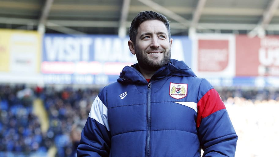 CARDIFF, WALES - FEBRUARY 25: Bristol City manager Lee Johnson prior to kick off of the Sky Bet Championship match between Cardiff City and Bristol City at the Cardiff City Stadium on February 25, 2018 in Cardiff, Wales. (Photo by Athena Pictures/Getty Images)