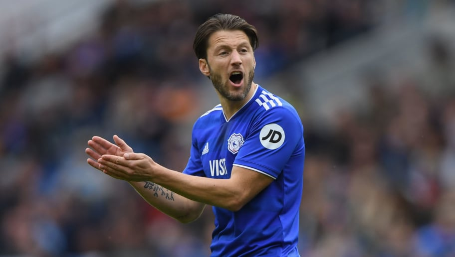 CARDIFF, WALES - SEPTEMBER 30:  Cardiff player Harry Arter reacts during the Premier League match between Cardiff City and Burnley FC at Cardiff City Stadium on September 30, 2018 in Cardiff, United Kingdom.  (Photo by Stu Forster/Getty Images)
