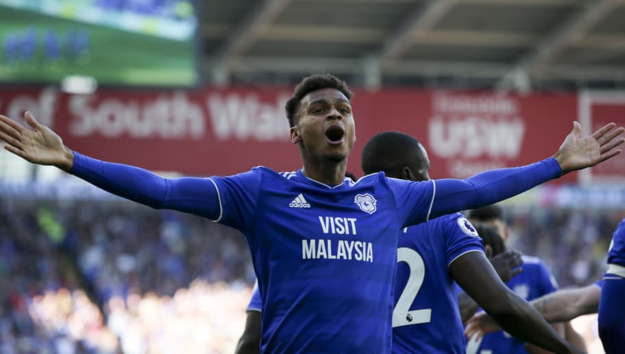 CARDIFF, WALES - OCTOBER 20: Josh Murphy celebrates the first goal for Cardiff City during the Premier League match between Cardiff City and Fulham FC at Cardiff City Stadium on October 20, 2018 in Cardiff, United Kingdom. (Photo by Cardiff City FC/Getty Images)