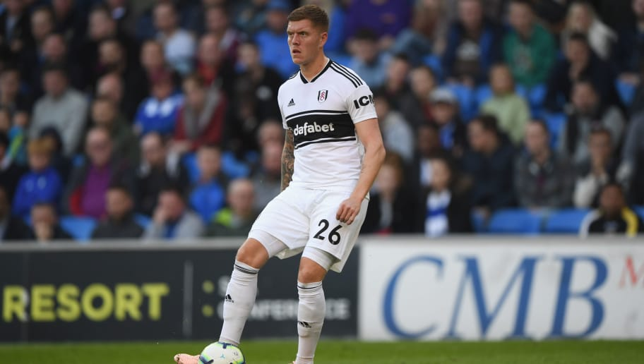 CARDIFF, WALES - OCTOBER 20:  Swansea player Alfie Mawson in action during the Premier League match between Cardiff City and Fulham FC at Cardiff City Stadium on October 20, 2018 in Cardiff, United Kingdom.  (Photo by Stu Forster/Getty Images)
