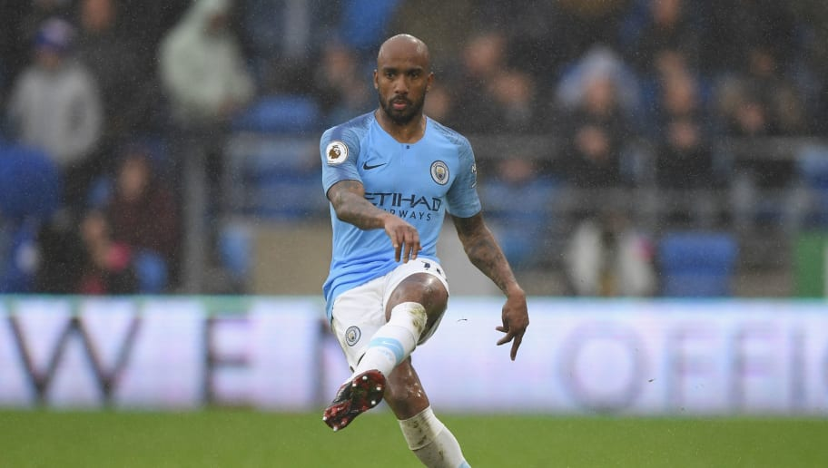 CARDIFF, WALES - SEPTEMBER 22:  Manchester City player Fabien Delph in action during the Premier League match between Cardiff City and Manchester City at Cardiff City Stadium on September 22, 2018 in Cardiff, United Kingdom.  (Photo by Stu Forster/Getty Images)