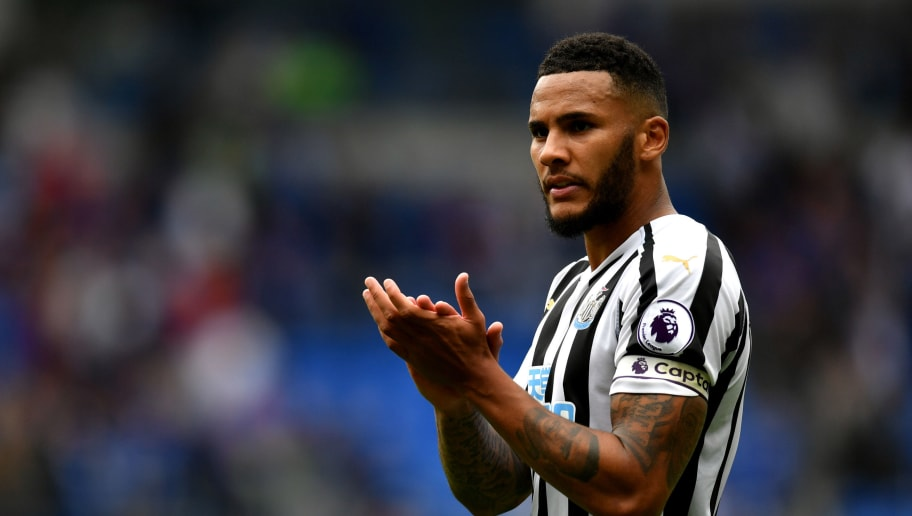 CARDIFF, WALES - AUGUST 18:  Jamaal Lascelles of Newcastle United reacts during the Premier League match between Cardiff City and Newcastle United at Cardiff City Stadium on August 18, 2018 in Cardiff, United Kingdom.  (Photo by Dan Mullan/Getty Images)