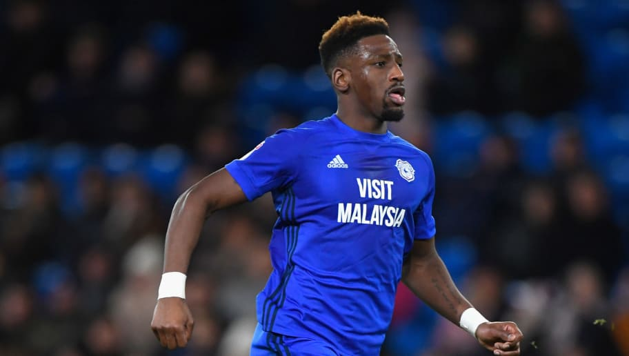CARDIFF, WALES - DECEMBER 01:  Cardiff player Omar Bogle in action during the Sky Bet Championship match between Cardiff City and Norwich City at Cardiff City Stadium on December 1, 2017 in Cardiff, Wales.  (Photo by Stu Forster/Getty Images)