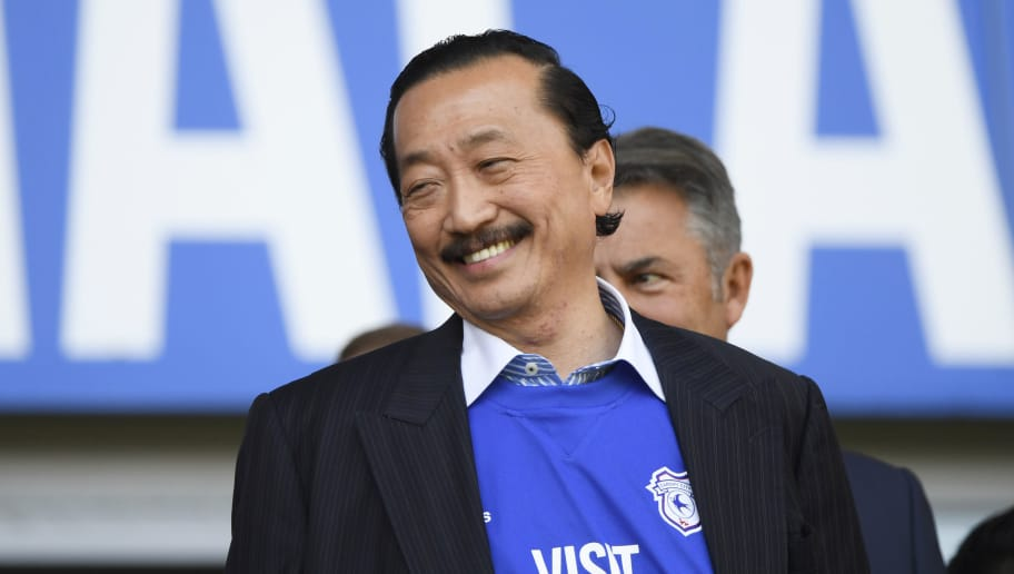 CARDIFF, WALES - MAY 06:  Cardiff City Owner Vincent Tan is seen prior to the Sky Bet Championship match between Cardiff City and Reading at Cardiff City Stadium on May 6, 2018 in Cardiff, Wales.  (Photo by Stu Forster/Getty Images)