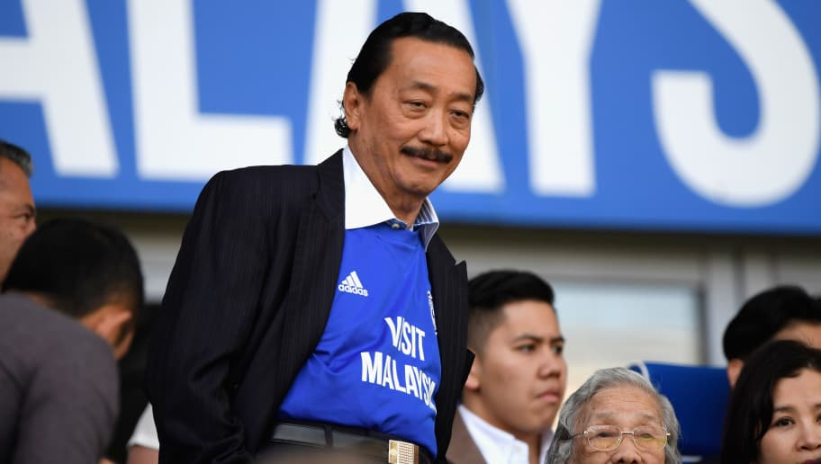 CARDIFF, WALES - MAY 06:  Cardiff owner Vincent Tan looks on during the Sky Bet Championship match between Cardiff City and Reading at Cardiff City Stadium on May 6, 2018 in Cardiff, Wales.  (Photo by Stu Forster/Getty Images)
